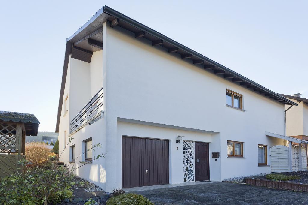 Wohnhaus mit versetzten Ebenen