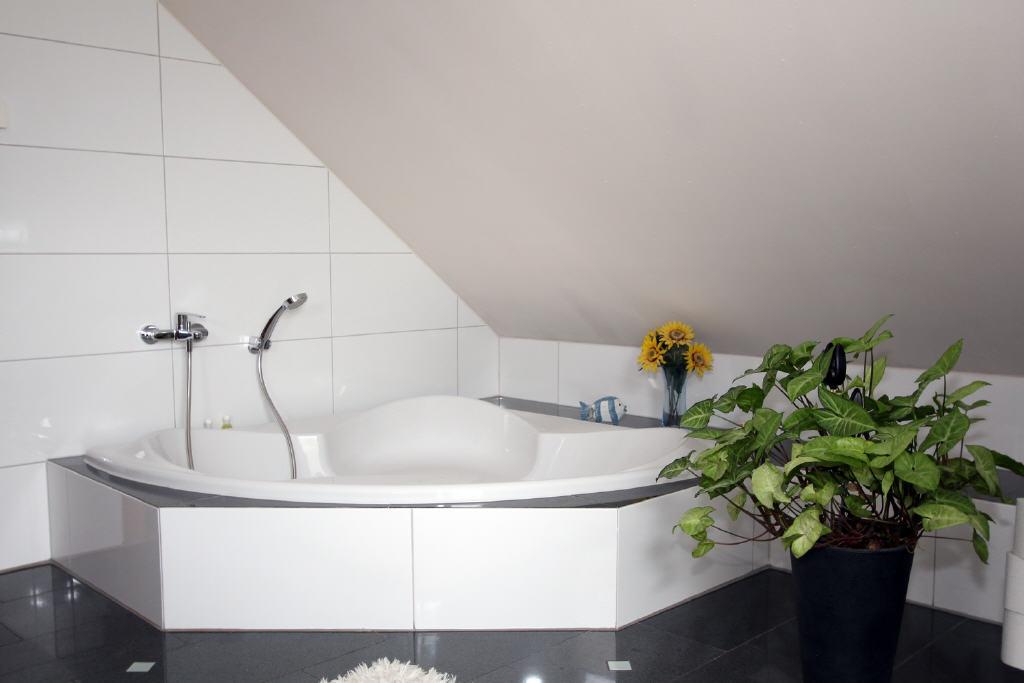 große Eckwanne im Voll-/Duschbad