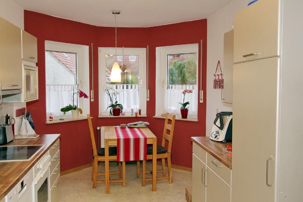 große Küche mit Morgensonne