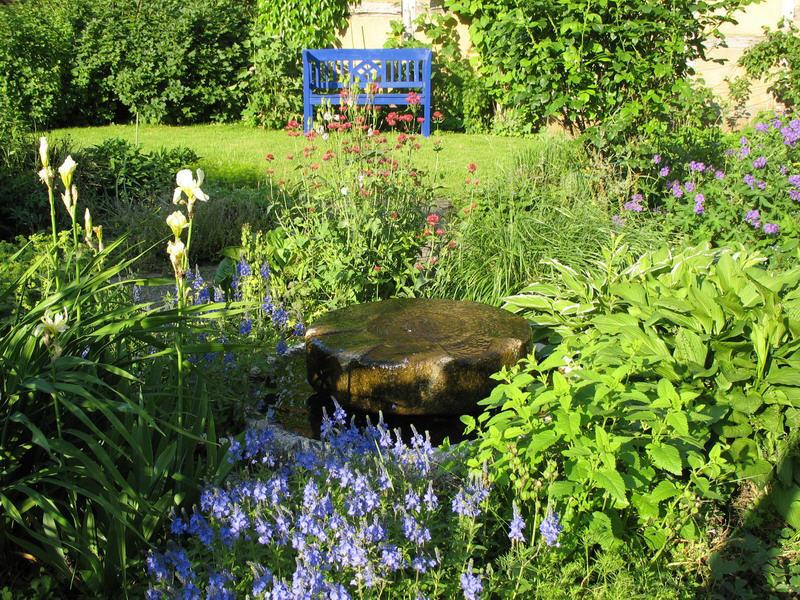 Barockgarten mit Springbrunnen